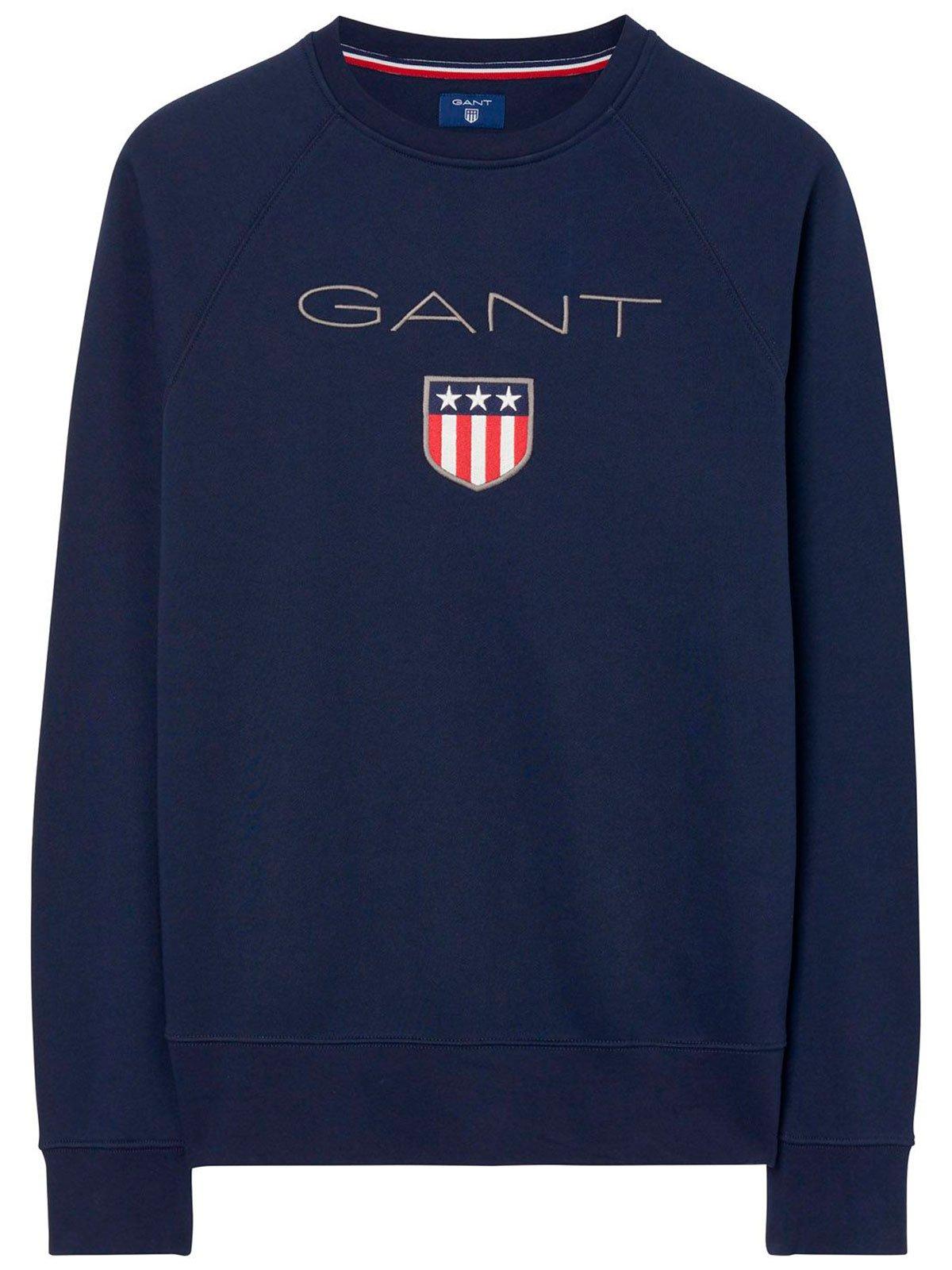 GANT Men's 18012046004433 Blue Cotton Sweatshirt