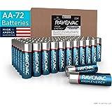 RAYOVAC AA 72-Pack High Energy Alkaline Batteries, 815-72BX