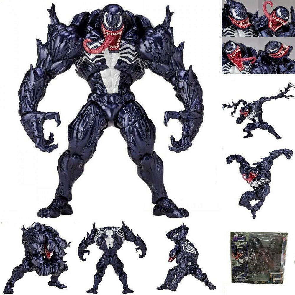 GOODKSSOP Joint Flexible Movable Classic Character Spider-Man Venom Edward Eddie Brock Action Figure Model Toy Xmas Gift