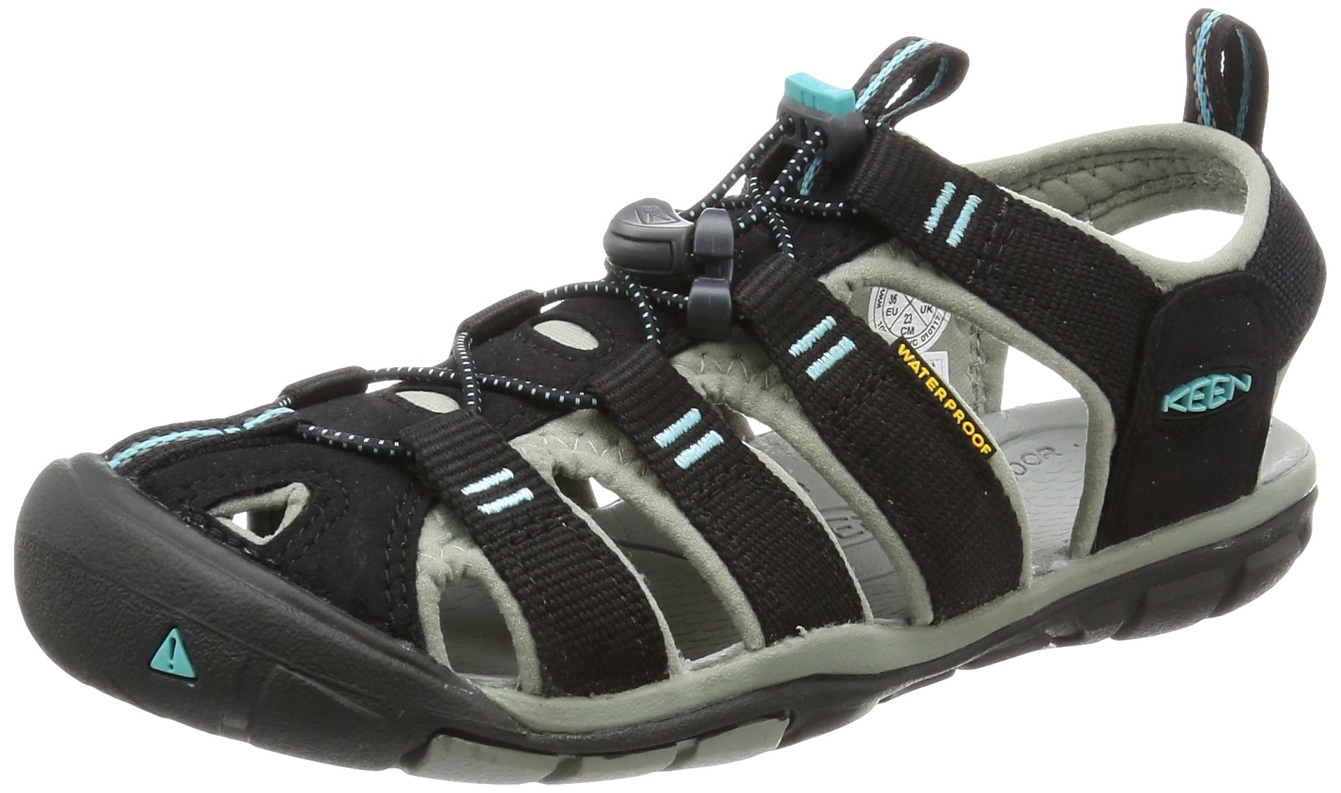 KEEN Women's Clearwater CNX Sandal, Black/Radiance, 10.5 M US
