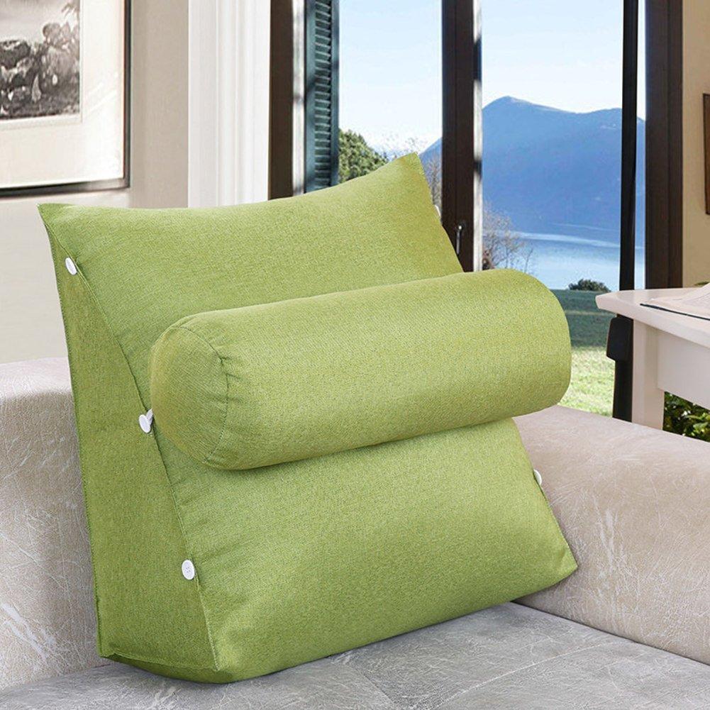 JIANHEADS ベッドサイド三角ウェッジ、取り外し可能なウエストバッククッションオフィスバッククッションソファ枕 (Color : Q, サイズ : 60x22x50cm(24x20x9inch)) B07RX3WBM4 Q 60x22x50cm(24x20x9inch)