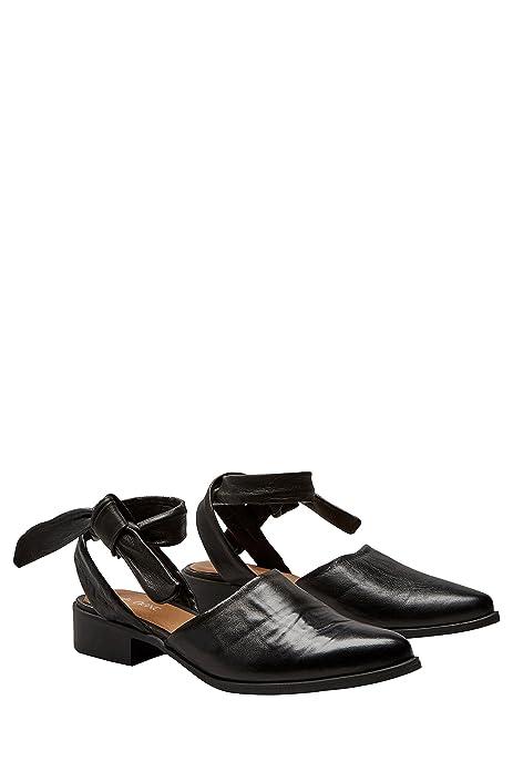 next Mujer Zapatos Zapatillas con Lazo En El Tobillo Dos Partes De Piel: Amazon.es: Zapatos y complementos