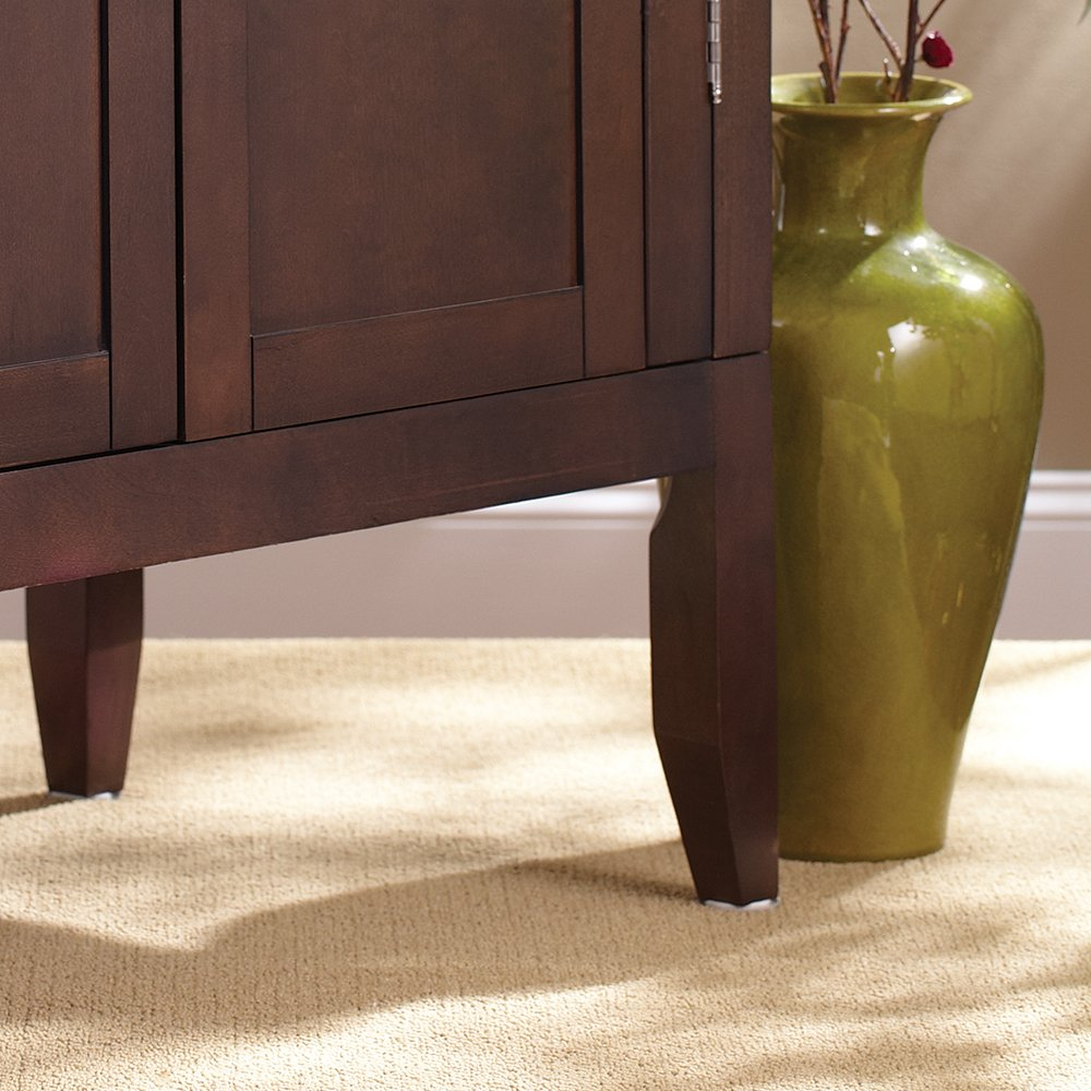 SuperSliders Self-Stick Furniture Moving Slider Value Pack for Carpeted Surfaces. Perfect for moving Tables & Chairs. 20 Pieces in Two Sizes - 1 & 1-3/4 - Round, Reusable, Linen Color Waxman Consumer Products 4760195N