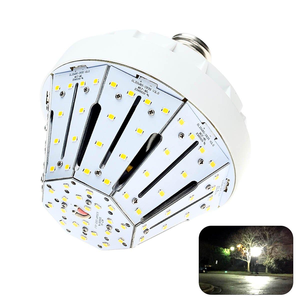 Phenas 20W LED Corn Light Bulbs E26 Base 3500 Lumens 4000K for Street Area Light, Parking Lot, Post Lighting, Gymnasium,Warehouse, Subway, Porch, Backyard, Garden Super Bright