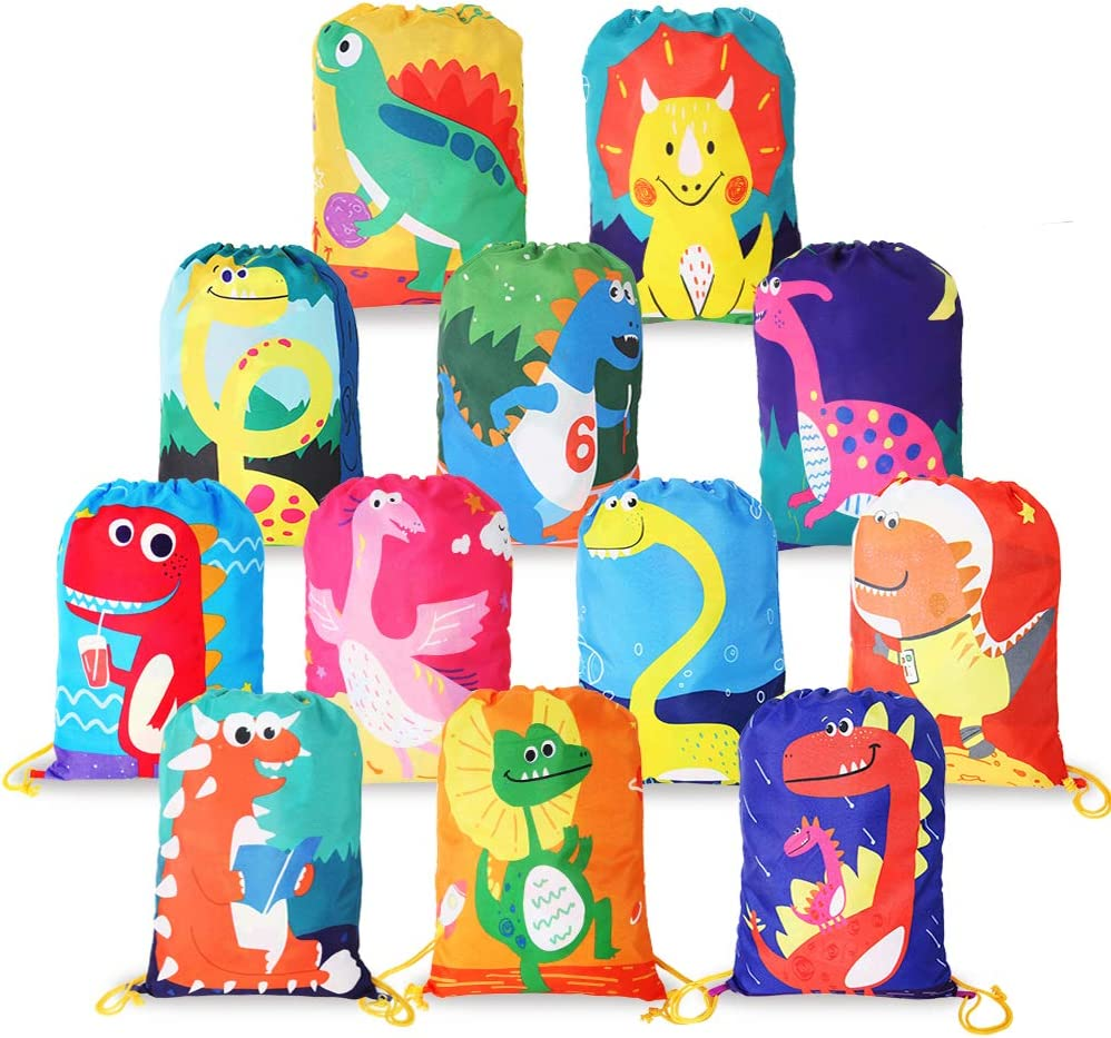 Brontosaurus Dinosaur Birthday Party Candy Favor Bags 0046 Custom Treat Bags for Kids 25 Paper Bags