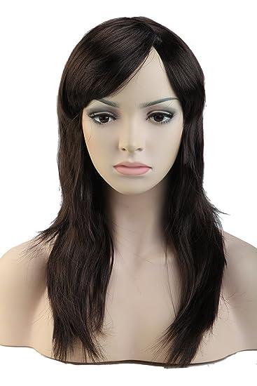 Amazon Com 20 Long Women Anime Cosplay Wigs With Bangs Layered