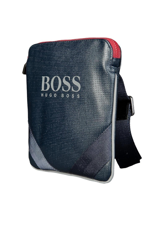 Hugo Boss Green Hommes Pochette Sac Masio 50285544 Bleu Marine  Amazon.fr   Vêtements et accessoires 001c50264946