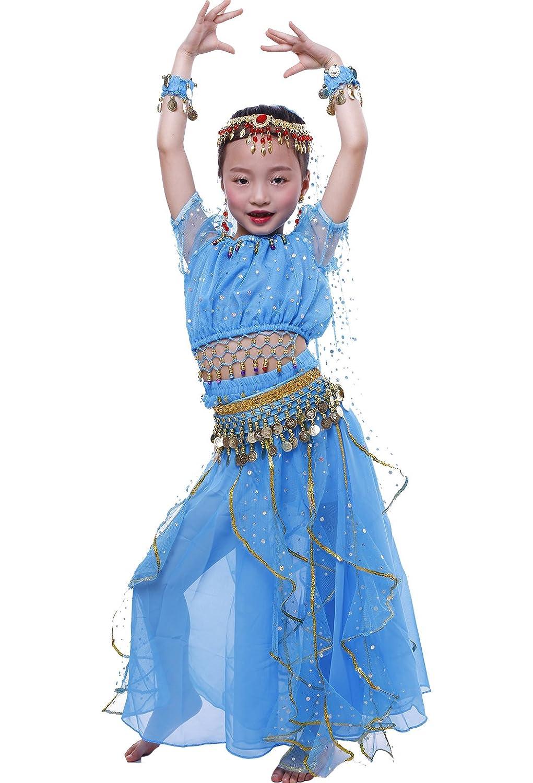 Astage Mädchen Kurzarm Bauch Tanz Kostüm Alle Ornamente