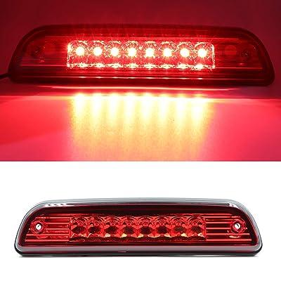 For 1995-2015 Toyota Tacoma High Mount LED 3rd Brake Light Third Light Brake CHMSL Center Light (Electroplate Cover Red Lens): Automotive