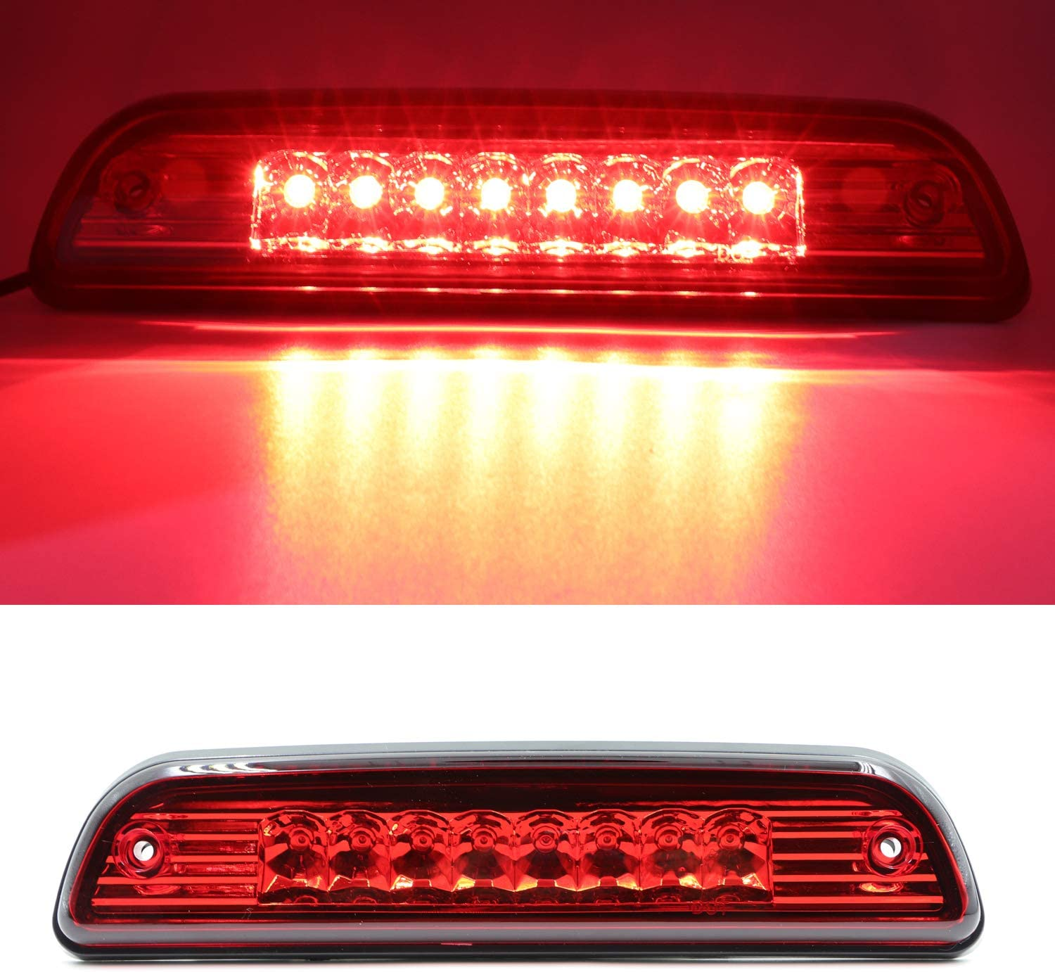 FOR 1995-2017 TOYOTA TACOMA RED HOUSING REAR THIRD 3RD BRAKE LED LIGHT LAMP Red