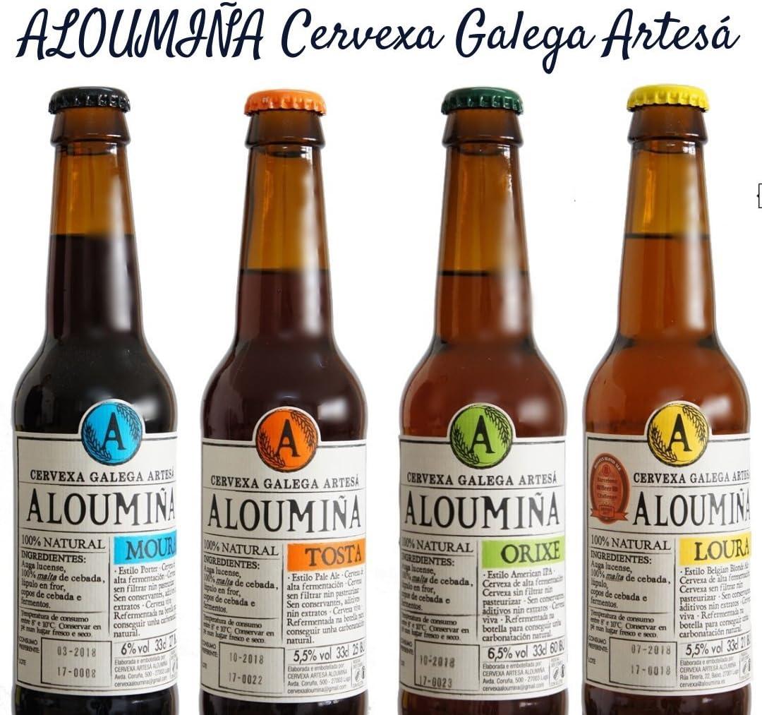 Pack Degustación Cerveza Artesana Aloumiña (8x33cl) 2x Aloumiña ...