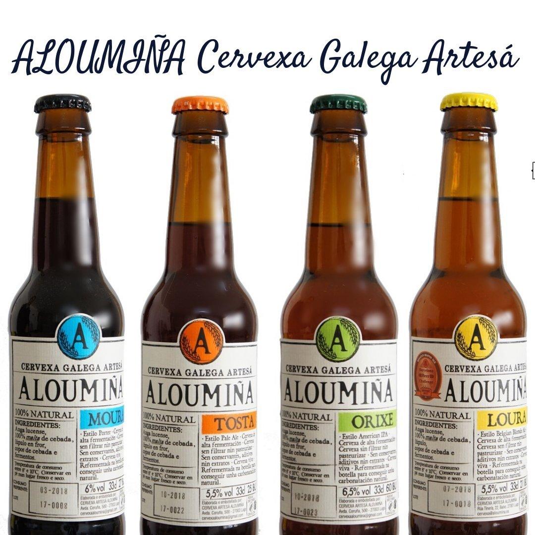 Pack Degustación Cerveza Artesana Aloumiña (8x33cl) 2x ...