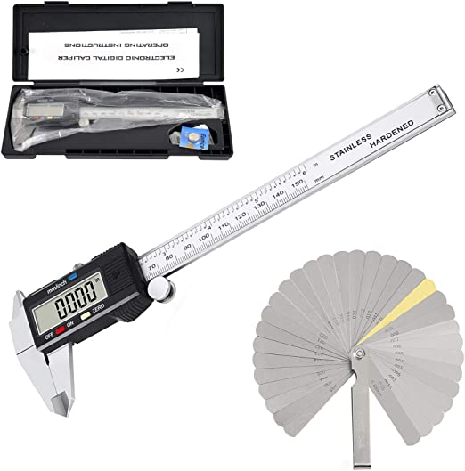 """New 6/"""" Stainless Steel Digital Caliper w Extra-Large LCD Screen SAE /& MM US SHIP"""