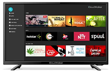 CloudWalker 80 cm  32 inches  4K Ready Smart HD Ready LED TV 32SHX2  Black   2019 model  Televisions