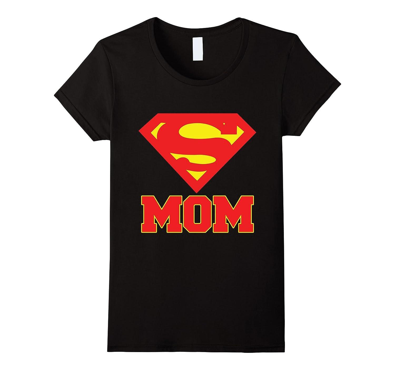 Women's Super Man Mom T-Shirt-CL