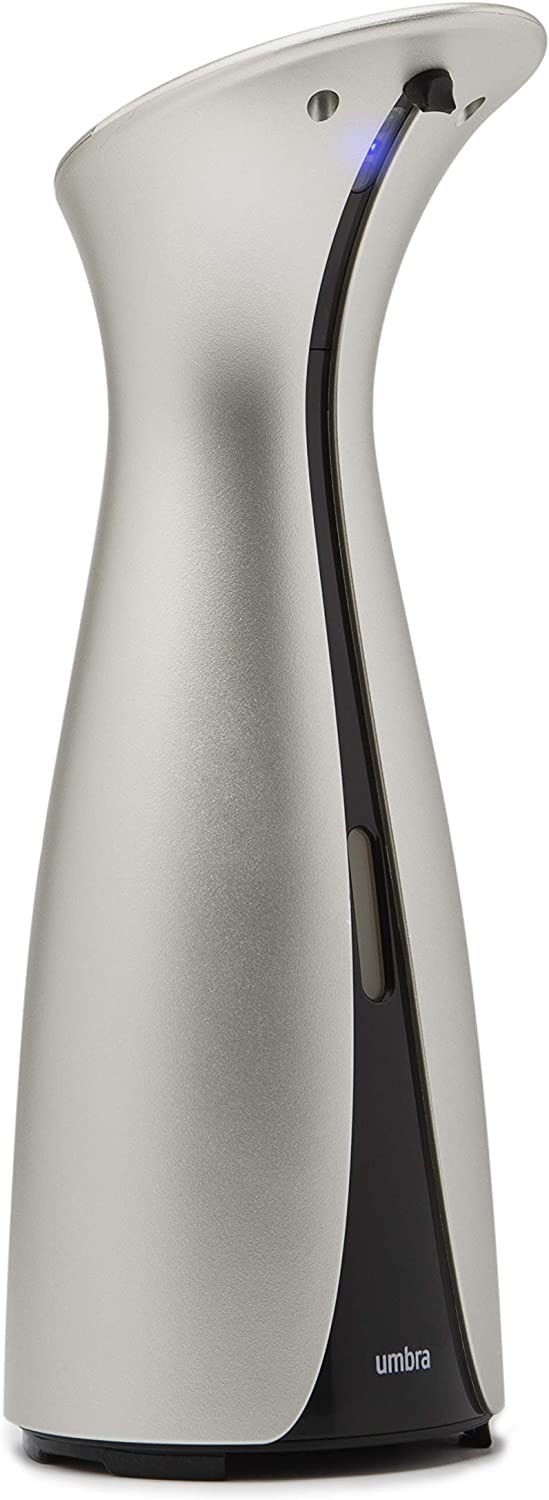 Umbra Otto Automatic Soap Dispenser Touchless, Also Works Sanitizer, Hands Free Pump for Kitchen or Bathroom, 8.5 OZ, Nickel