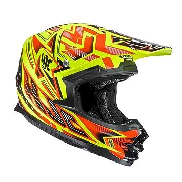 HJC FG de X Tow MC de 1 mx de casco, gelb-rot