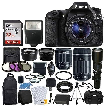 Canon EOS 80D DSLR Cámaras + Canon EF-S 18: Amazon.es: Electrónica