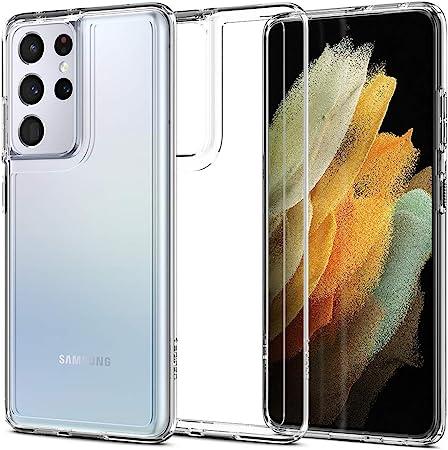 Spigen Ultra Hybrid Hülle Kompatibel Mit Samsung Galaxy S21 Ultra Crystal Clear Elektronik