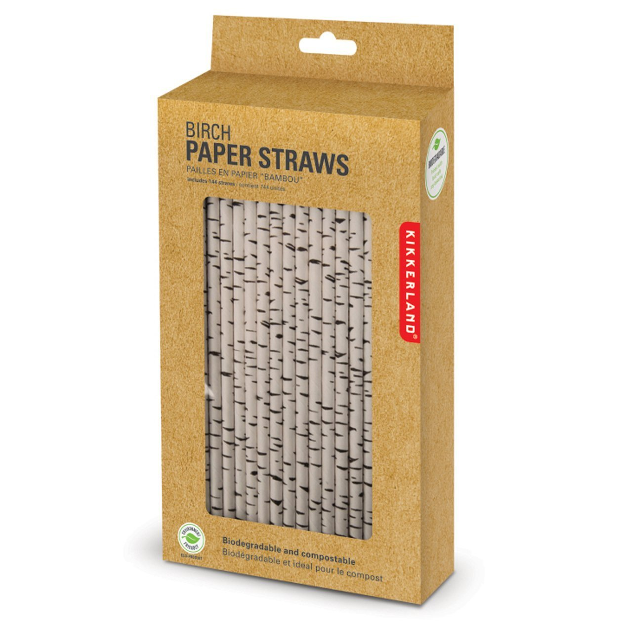 kikkerland biodegradable paper straws birch box of  amazon  - kikkerland biodegradable paper straws birch box of  amazonca home kitchen