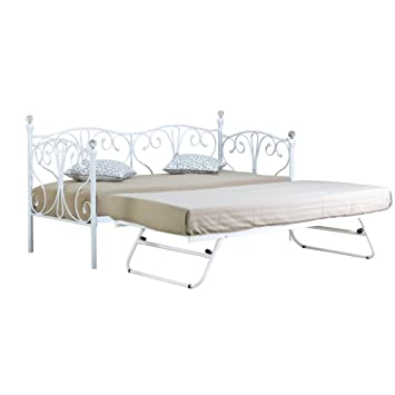 promo code 500f8 5e0a4 Comfy Living 2ft6 Small Single Crystal Day Bed & Trundle in ...
