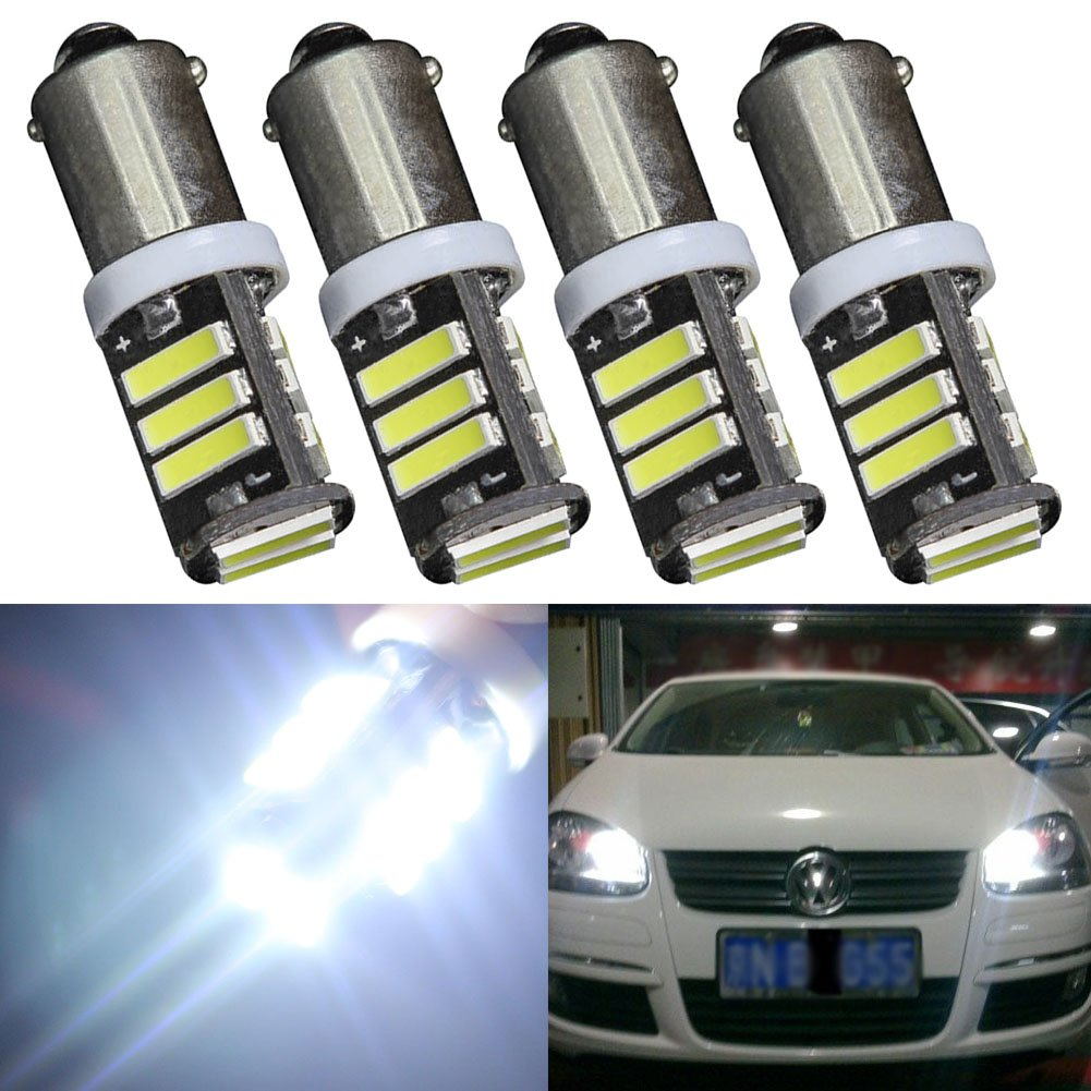 TABEN BA9 BA9S 7014 11-EX Chipsets LED Bulbs,Super Bright 450LM 6500K 12V 53 57 1895 64111 LED Bulbs Used For Side Door Courtesy Lights Map Lights 10pcs, Xenon White