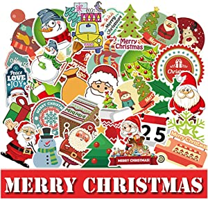 EHOPE 100 PCS Christmas Stickers Water Bottle Stickers Christmas Decals for Water Bottle Laptops Ipad Cars Luggages(Christmas Stickers 100PCS)