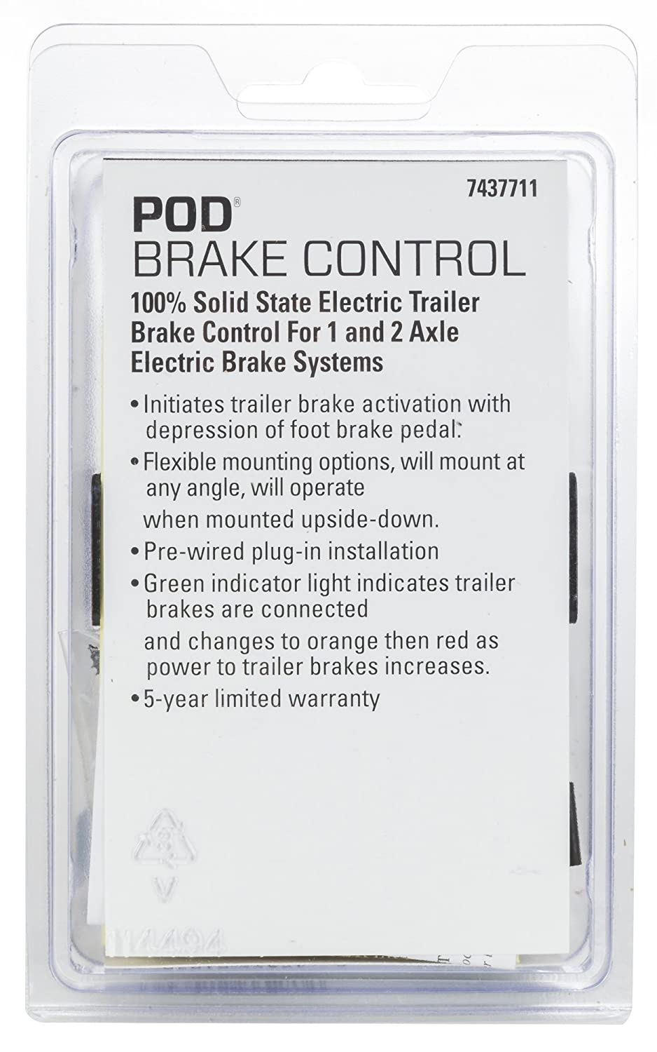 Reese Towpower 7437711 Pod Brake Control Automotive How To Hook Up Electric Trailer Brakes