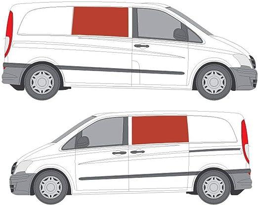 Oscuro Tint fija doble ventana lateral Kit para Mercedes Vito (03 – 14): Amazon.es: Coche y moto
