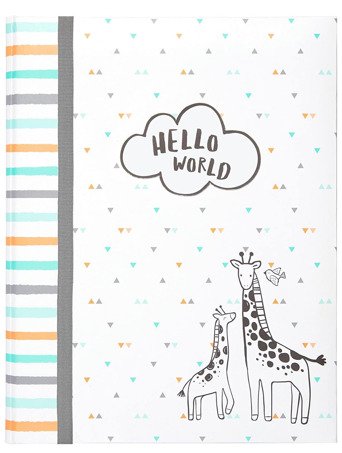 Carter's Hello World Animal Themed Bound Baby Memory Book, 64 Pages, 9 W x 11.125 H 9 W x 11.125 H C.R. Gibson - Baby B2-18280