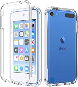 BESINPO iPod Touch Case Compatible with iPod Touch 7 Case iPod Touch 6 5 Case,Full-Body Built-in Screen Protector Rugged Protection Shockproof Clear Cover Case for iPod Touch 7th/6th/5th Generation
