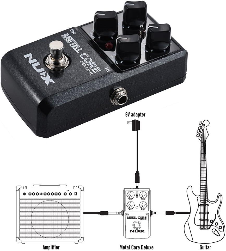 ammoon NUX METAL CORE DELUXE Guitarra Eléctrica Pedal de Efectos ...