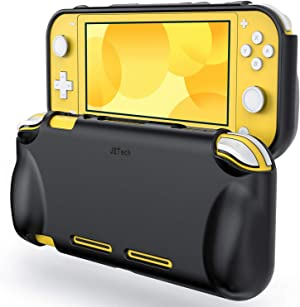 JETech Protective Case for Nintendo Switch Lite 2019, Grip Cover with Shock-Absorption and Anti-Scratch Design, Black
