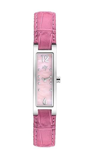 Joy Rectangulares Tamano JW537 - Reloj de mujer de cuarzo, correa de piel color rosa: Amazon.es: Relojes