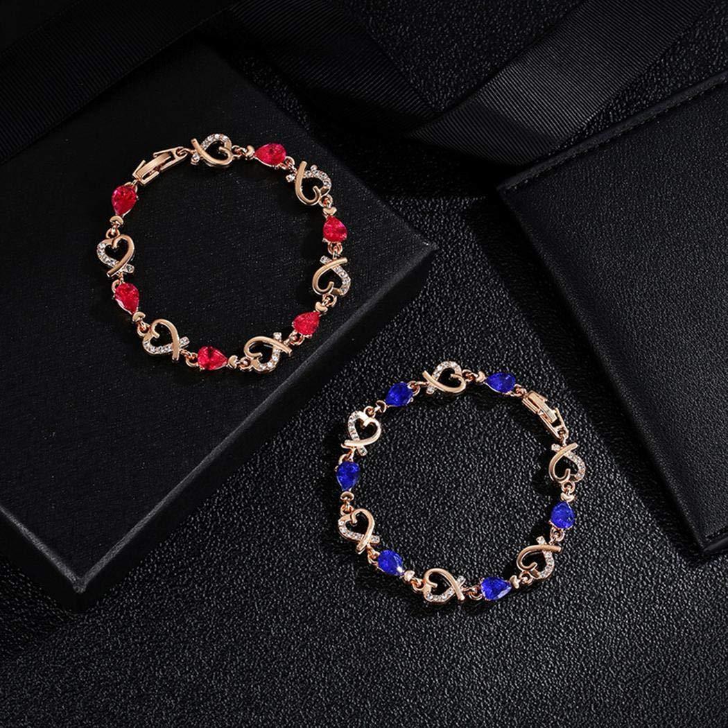 Zimrio Women Crystal Bracelet Love Heart Bracelet Valentine\'s Gift Jewelry Bracelets