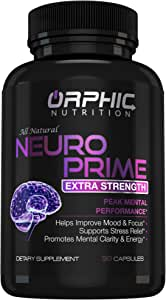 Neuro Prime Brain Booster Supplement - Memory, Focus, Alertness, Clarity & Concentration - Mental Performance Nootropic - Ginkgo Biloba, St. Johns Wort, DMAE, L-Carnitine, Bacopa Monnieri Extract