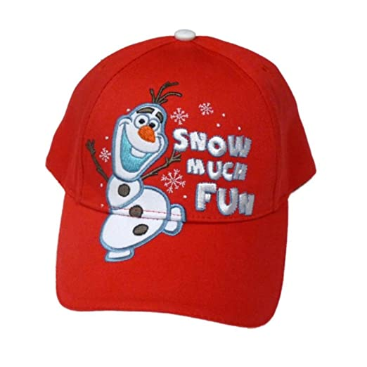 c3b97fdce Amazon.com: Disney Frozen Boys Red Olaf Baseball Cap Snow Much Fun ...