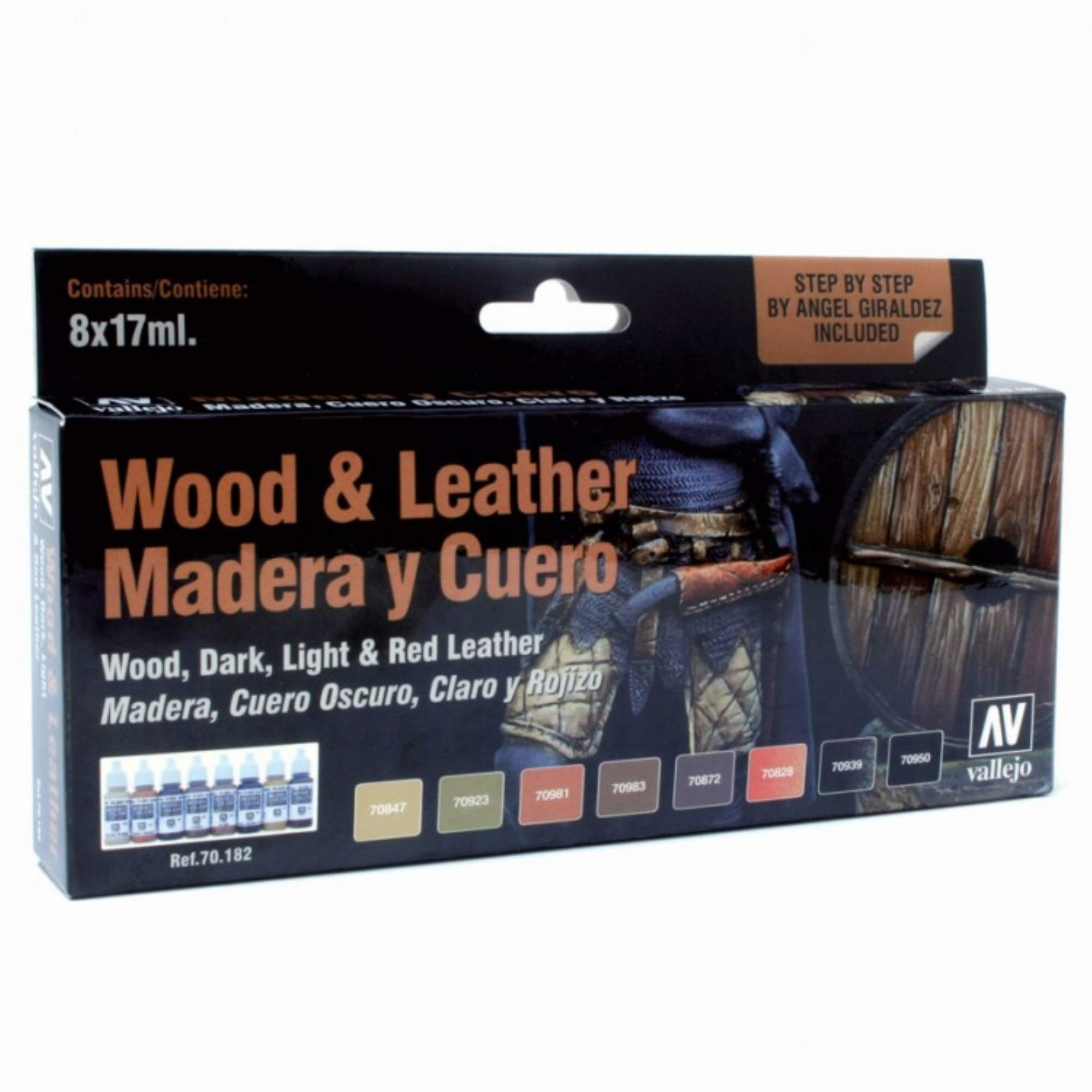 Vallejo Wood and Leather Paint Set Paint Set by Vallejo