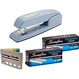 Swingline Stapler, 747 Iconic Desktop Stapler, 25 Sheet Capacity, Sky Blue | Swingline Standard Staples 2 Pack | 5 Color Flag Set