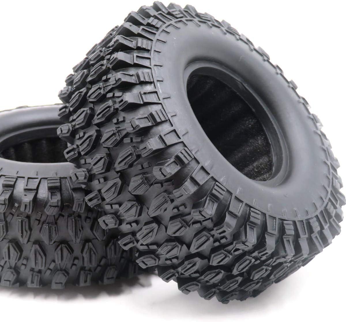 4pcs RC 1.9 Super Swamper Tires Tyre Height 108mm Fit 1:10 Crawler Mud 1.9 Beadlock Wheels Rims
