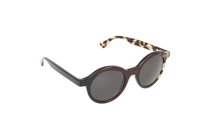 Fendi 3 Tone Super Round Sunglasses in Black Olive Havana FF 0066/S MXU 48