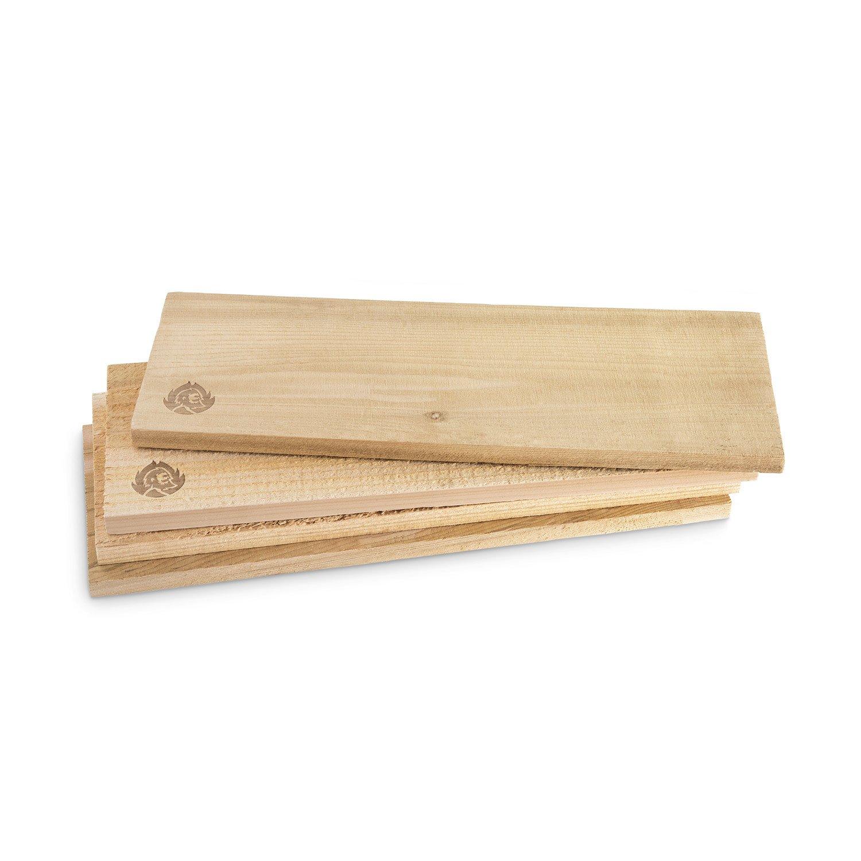 4 placche per affumicare XL in legno di cedro canadese di BURNHARD (40 x 15 x 1, 5)