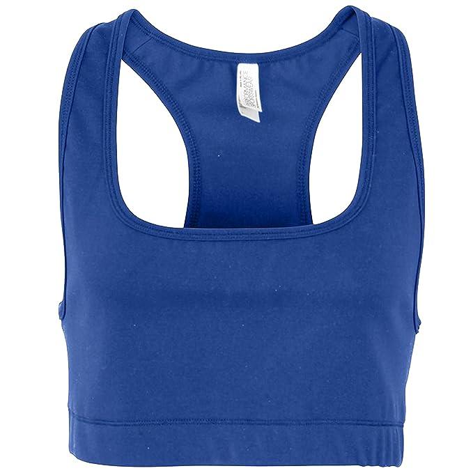 91db049690887 American Apparel Womens Ladies Plain Racerback Sports Bra (M) (Royal Blue)