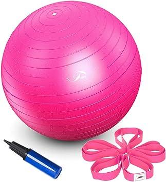 Amazon.com: JBM - Balón de yoga con bomba de aire gratuita ...