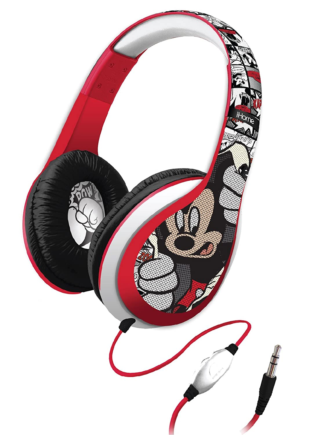 Amazon Mickey Over The Ear Headphones With Volume Control Refresh Di M40MY Home Audio Theater