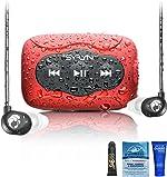 Swimbuds Flip Headphones and 8 GB SYRYN Waterproof MP3 Player with