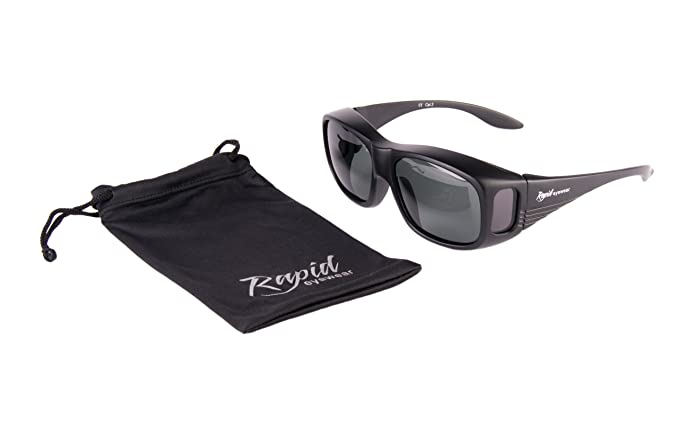 Rapid eyewear uomini e donna sovraocchiali da sole neri