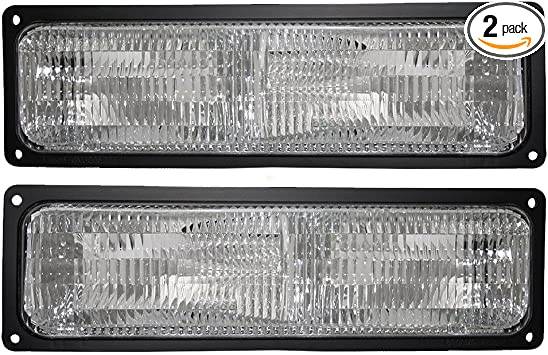 Passengers Park Signal Front Marker Light Lamp Replacement for 94-02 GM SUV Pickup Truck w//Composite Headlamps 5976838