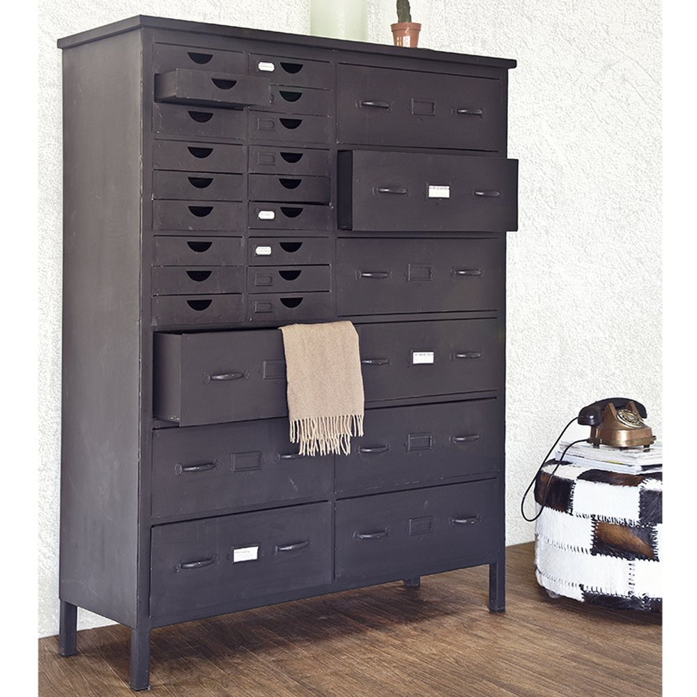 Industrie Design Schubladenschrank Highboard Konsole Schrank Metall ...