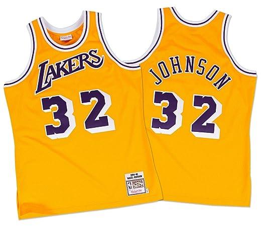2 opinioni per Magic Johnson Los Angeles Lakers Mitchell & Ness Authentic 1984 Gold NBA Jersey